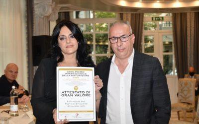 """Gran Premio Internazionale della Ristorazione 2020: a Riccione premiata l'azienda """"Fattincasa"""" di Nunzia  Delle Fave con il brand """"Pasta di Stigliano"""""""