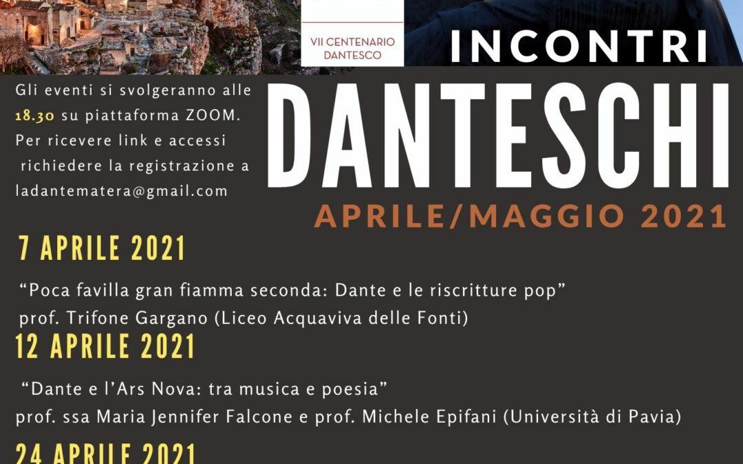 """Il Comitato di Matera della Società Dante Alighieri presenta gli """"Incontri Danteschi"""""""